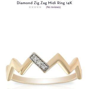 Diamond 14k midi ring